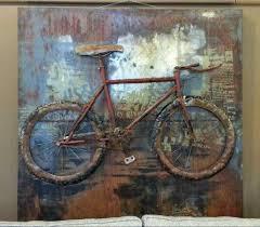 dimensional wall wall designs bicycle wall metal three dimensional wall