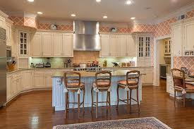 Kitchen Pantry Kitchen Cabinets Breakfast by Country Kitchen With Breakfast Bar U0026 Subway Tile In Purchase Ny
