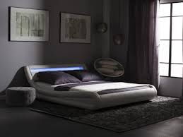 platform bed with led lights platform bed led lights 180 x 200 faux leather white avignon