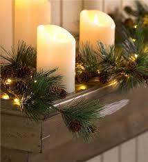lighted pine cone garland lighting