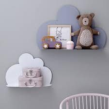 étagère murale chambre bébé etagã re nuage gris cm bloomingville au mur étagère murale chambre