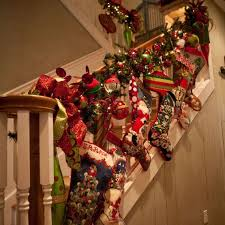 Banister Garland Ideas 97 Best Banister U0026 Stairstep Decor Images On Pinterest Christmas