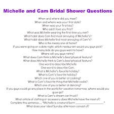 bridal shower question bridal shower groom questions