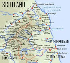 Map Of England And Scotland by Border Reivers
