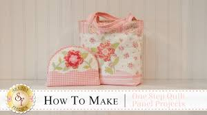how to make the one step quilt panel projects with jennifer