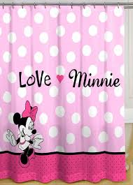 White With Pink Polka Dot Curtains Interior Wonderful Ideas Of Kids Shower Curtains With Beautiful