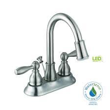 glacier bay mandouri 4 in centerset 2 handle led bathroom faucet