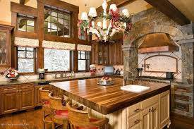 rustic kitchen with kitchen island u0026 custom hood zillow digs