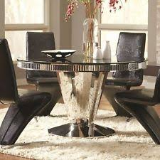Dining Table Black Glass Round Glass Dining Table Ebay