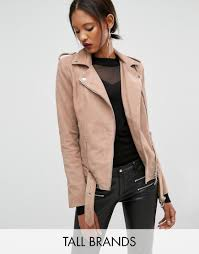 buy biker jacket buy it now y a s tall gwen suede biker jacket with belted hem