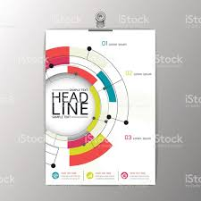 circle layout vector a4 abstract modern circle design brochure template layout vector