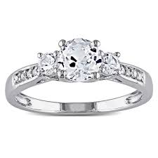 white sapphire wedding rings miadora 10k white gold created white sapphire and accent 3
