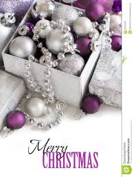 silver and purple ornaments border stock image image