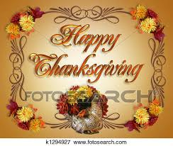 stock illustration of happy thanksgiving card k1294927 search