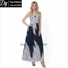 fashion 2017 women u0027s dress spring and summer feather pattern