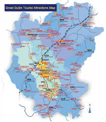 China River Map by Guilin Tourist Attractions Map Maps Of Guilin