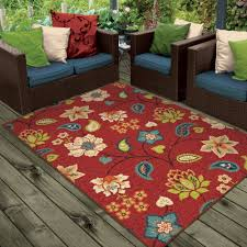 Red And Turquoise Area Rug Orian Rugs Indoor Outdoor Garden Chintz Area Rug Or Runner
