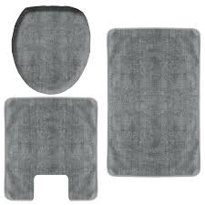 3 Piece Bathroom Rug Set by Clever Gray Bathroom Rug Dark Gray Bath Rug Set 3 Piece Grey