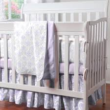 Lavender And Grey Crib Bedding Purple Mini Crib Bedding Carousel Designs Lavender Dreams And Gray