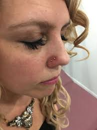 nose rings small images 90 flattering double nose piercings for all face types jpg