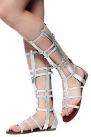 bamboo silver caged gladiator sandals cicihot sandals shoes