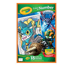 color by number skylanders crayola