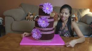 how to make a towel cake round style youtube