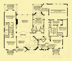Mediterranean Floor Plan Mediterranean Luxury Home Plans With 5 Or 6 Bedrooms