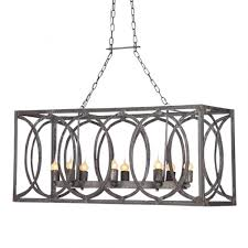 Rectangular Island Light New Orleans Linear Lantern Pendants Lights And Iron