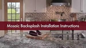 mosaic tile backsplash installation video stonetileliquidators
