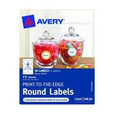 avery print to the edge permanent inkjet round labels small 1 1