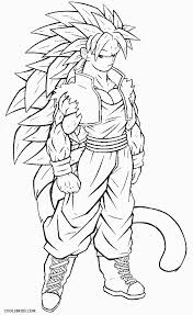 dragon ball coloring pages goku super saiyan 5 twit printable