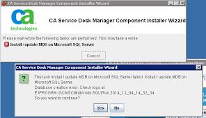 Microsoft Service Desk Upgrading Ca Service Desk Manager Ca Sdm Mdb Fails With Message