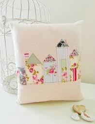 Shabby Chic Cushions by Handmade Blue Ditsy Floral Patchwork Shabby Chic Cushion Cover 14