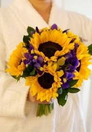 Sunflower Wedding Bouquet Sunflower And Purple Iris Bouquet Google Search Janowski Ever
