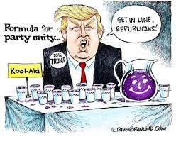 Koolaid Meme - formula for party unity 20lo trump kool aid get in line