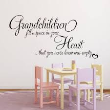 grandchildren fill your empty heart english quotes wall stickers getsubject aeproduct