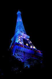 The European Flag Eiffel Tower Dressed Up Like The Eu Flag For Halloween