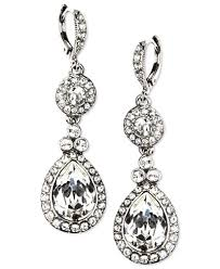 drop earrings givenchy earrings silver tone swarovski element drop