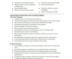 Program Manager Resume Objective Sample Customer Service Manager Resume Resume Template And