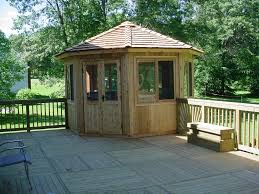 cedarshed 12 ft octagon whistler all season gazebo 128was