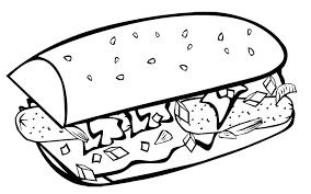 Food Coloring Pages Fast Food Coloring Pages Fast Food Breakfast Food Color Pages