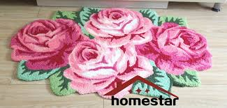 Floral Runner Rug Online Shop Embroidery Carpet Floral Roses Flower Carpet Pink