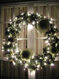 large outdoor christmas wreath with lights sacharoff decoration