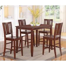 shop east west furniture buckland mahogany dining set with