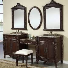 Vanity With Makeup Area by Double Bathroom Vanity With Makeup Area Home Design Ideas
