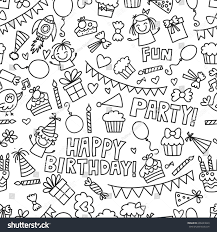 vector kids party coloring page children stock vector 609423629
