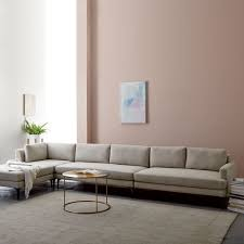 west elm andes sofa review andes 4 piece chaise sectional stone twill west elm