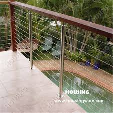 Outdoor Banister Outdoor Banister Glass Fencing Stainless Steel Rail Glass Clip