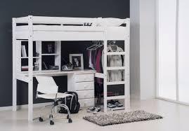 lit superposé avec bureau pas cher lit en hauteur avec bureau mezzanine quarre rabattable camille mi